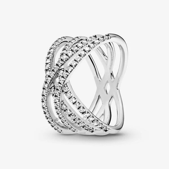 Pandora Entwined Lines Ring in Size 54